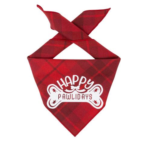 Christmas Dog Bandana - Red Luxe Flannel