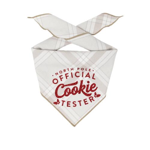 Christmas Dog Bandana - Cookie Tester