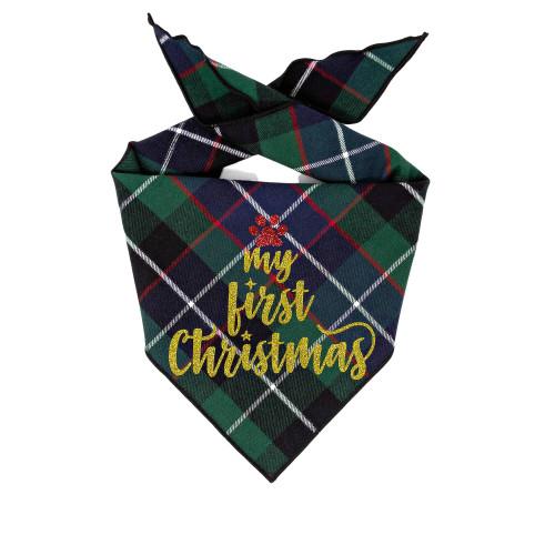 Christmas Dog Bandana - My First Christmas