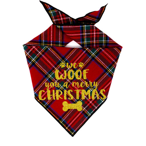 Christmas Dog Bandana - Red Tartan