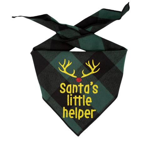Christmas Dog Bandana - Santa's Little Helper