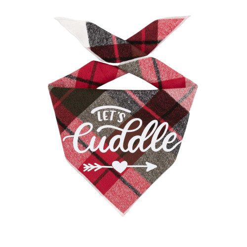 Dog Bandana - Let's Cuddle Luxe Flannel