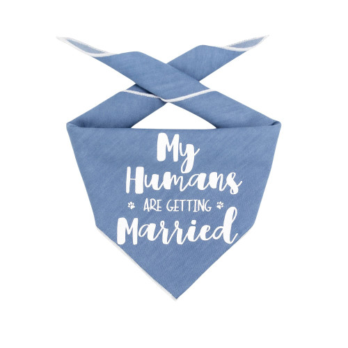 Dog Bandana - My Humans are Getting Married Denim