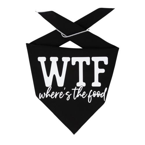 Dog Bandana - WTF Where's the Food