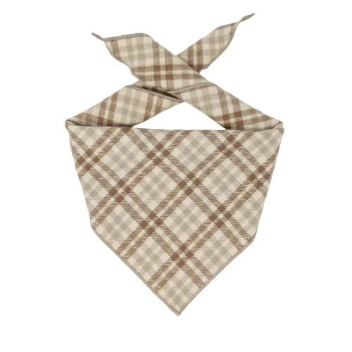 Dog Bandana - Beigel Flannel