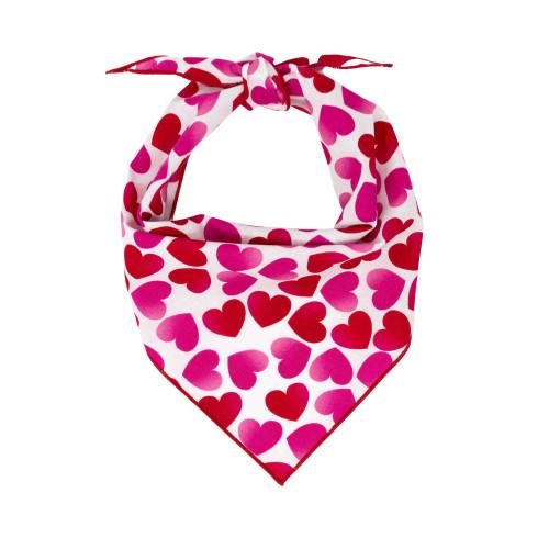 Dog Bandana - Pink Ombre Hearts Valentine