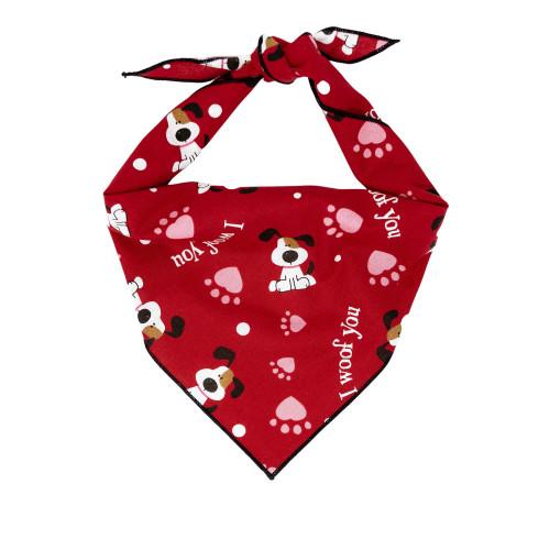 Dog Bandana - I Woof You Valentine