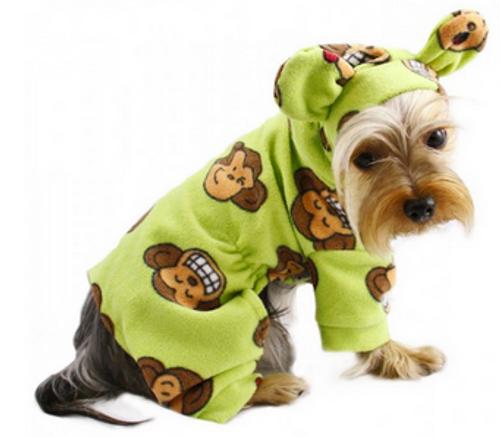 monkey pet pajamas