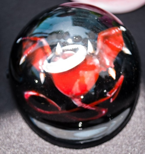 Airbrushed Devil in Disguise Dog Helmet