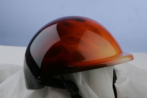 Airbrushed Fire Flames Dog Helmet