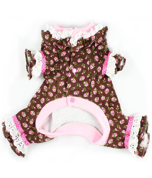 Lacey Cotton Pink Roses Dog Pajamas