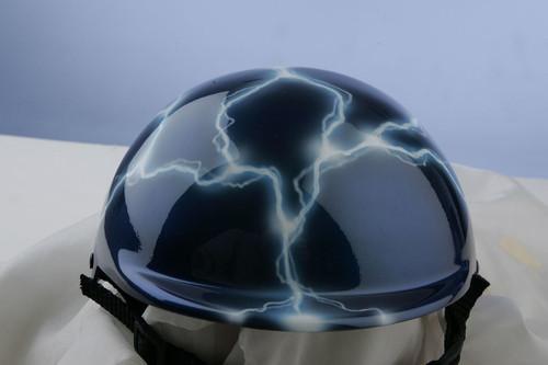 Airbrushed Blue Lightning Dog Helmet