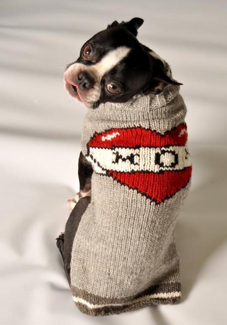 Fair Trade Mom Tattoo Hoodie Dog Sweater