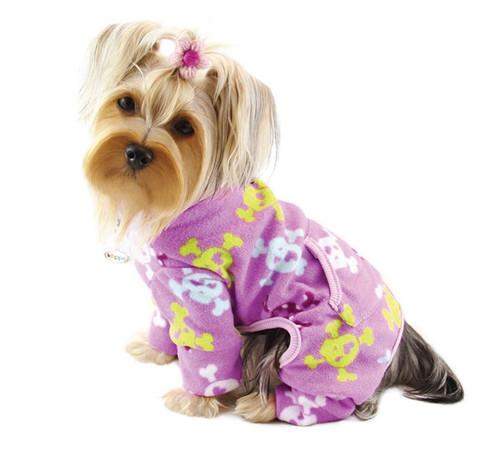 Fleece Girly Skull Dog Pajamas