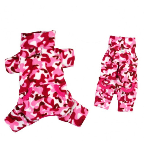 fleece camo dog pajamas