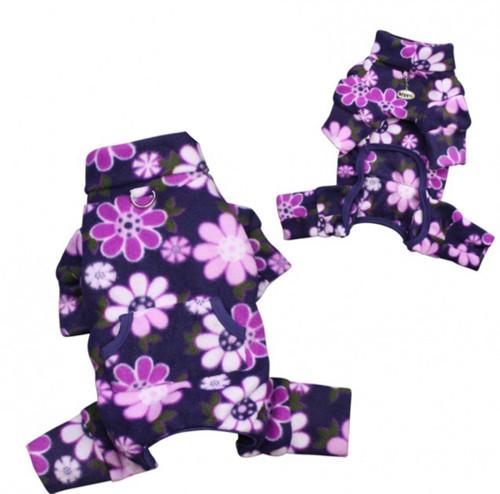 Dog Pajamas | Fleece Midnight Garden Dog Pajamas