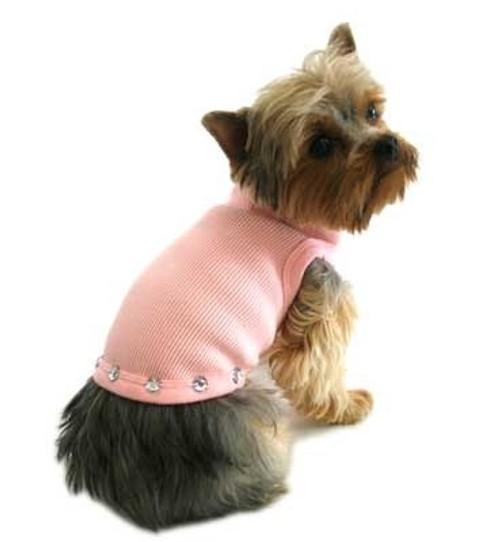 Pink Jewel Stud Dog Tank