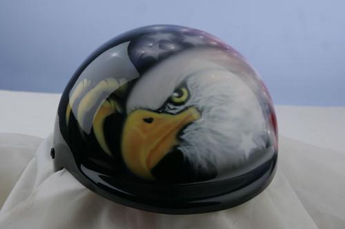 Dog Helmet | Airbrushed American Flag Eagle Dog Helmet