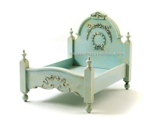 Shabby Chic Dog Bed ~ Aquamarine