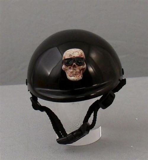 Rockstar Puppy Cool Skull with Sunglasses Dog Helmet - Bone