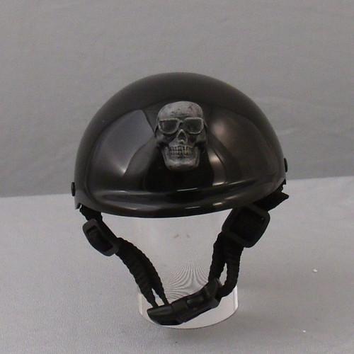 Rockstar Puppy Cool Skull with Sunglasses Dog Helmet - Grey
