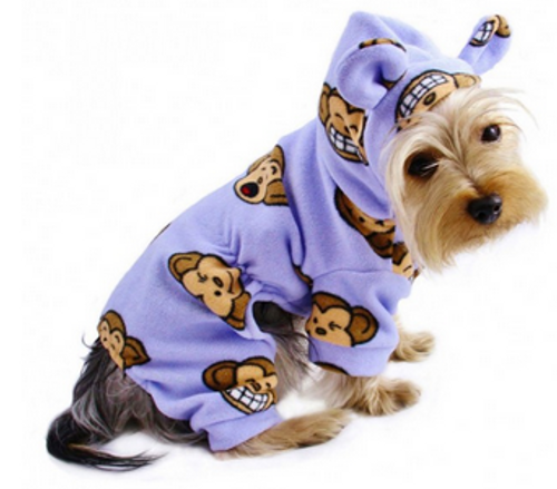 lavender silly monkey dog pajamas
