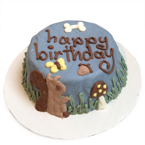 Woodland Squirrel Dog Cake