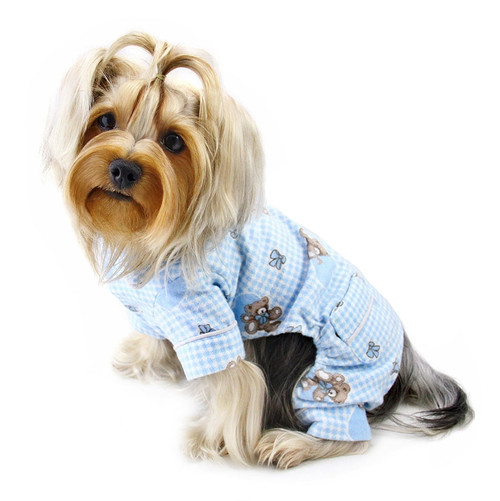Flannel Teddy Bear Dog Pajamas