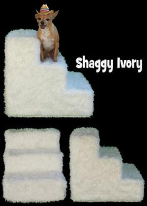 shaggy ivory pet steps