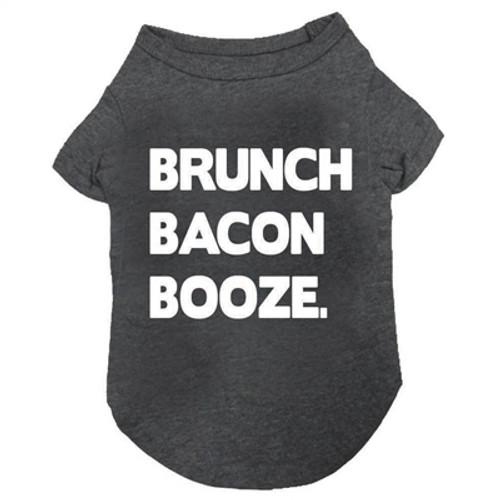 brunch bacon booze dog tee
