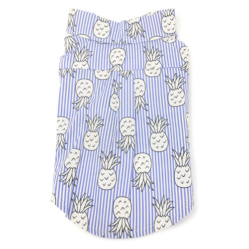 pineapple dog button up shirt