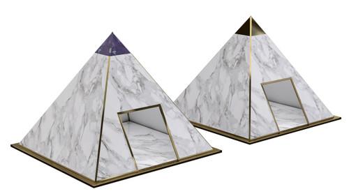 pyramid dog houses