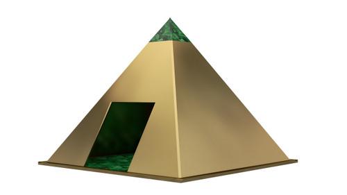 pyramid copper and malachite dog house