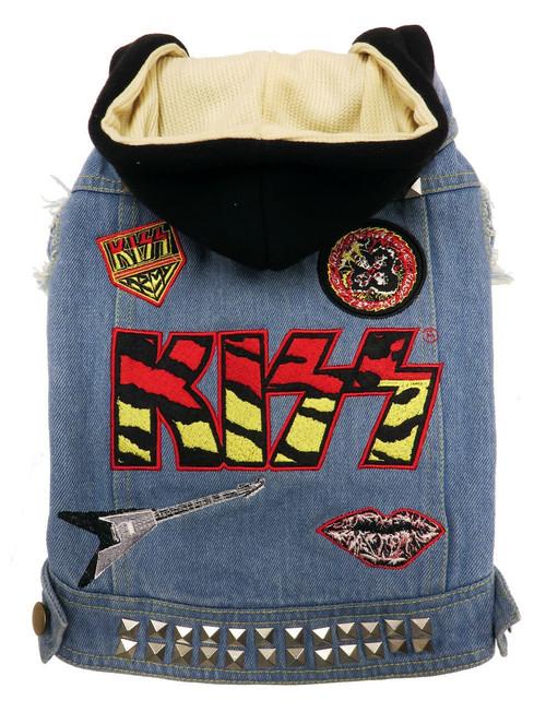 Kiss Dog Denim Rocker Jacket
