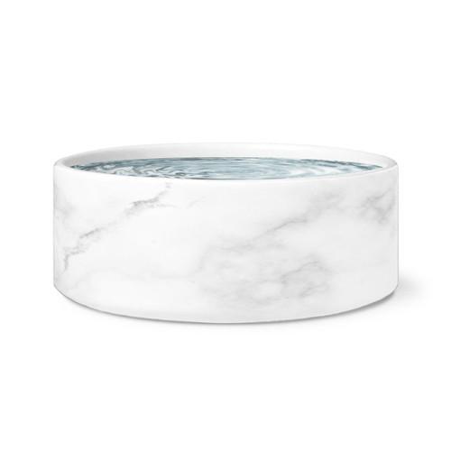 White Marble Dog Bowl