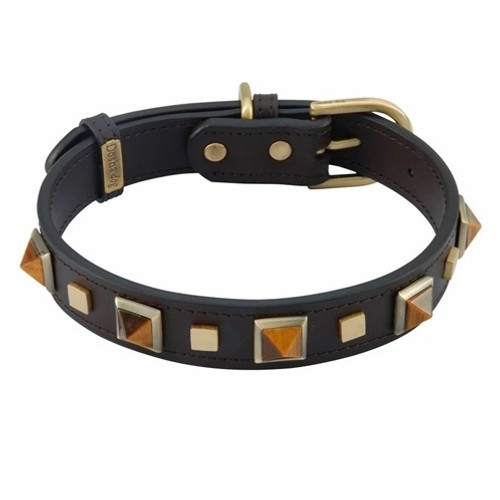 tiger's eye dog collar