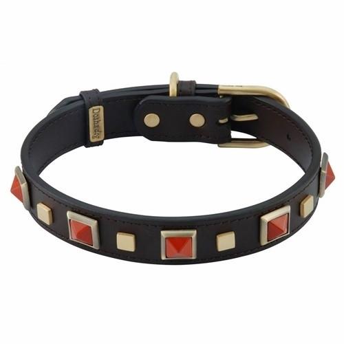 red jasper dog collar