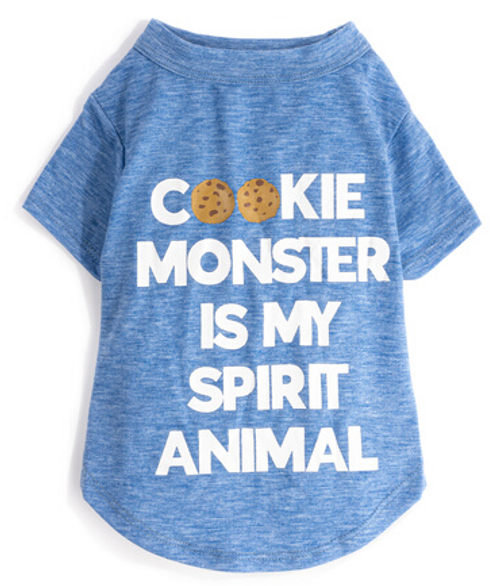 cookie monster spirit animal dog tee