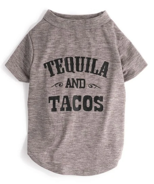 Tequila & Tacos Dog Tee