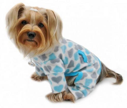 Fleece Hearts Dog Pajamas