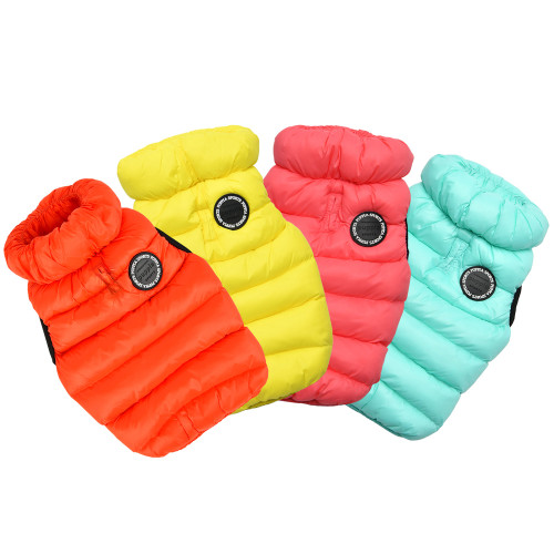packable puffer dog vest