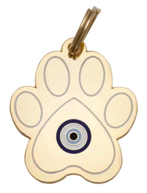 evil eye dog id tag
