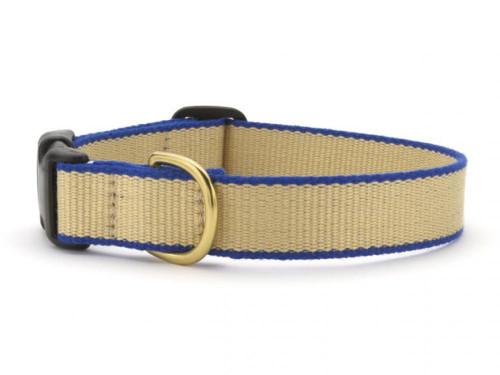 Green Market Tan and Royal Blue Dog Collar