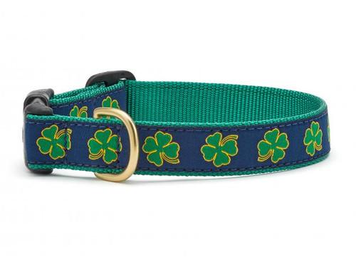 Navy Shamrock Dog Collar