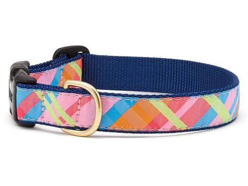 Pink Madras Dog Collar