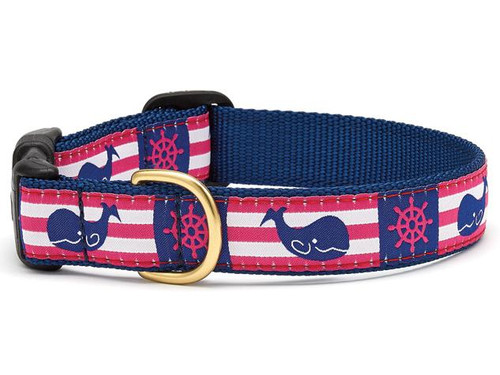 Whale Stripe Dog Collar