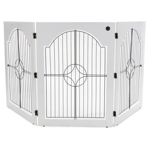 freestanding pet gate white