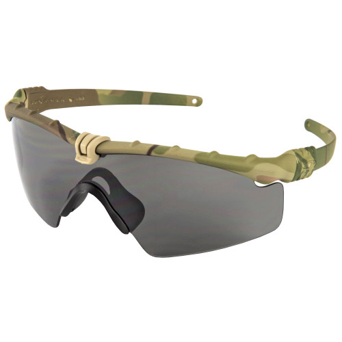 Oakley Standard Issue SI Ballistic Protective Glasses M-Frame 3.0, MultiCam Frame with Grey Lenses, Camouflage OO9146-02