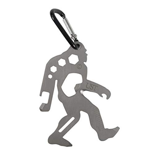 UST Sasquatch Tool-A-Long Multi-Tool With Carabiner, Compact Stainless Steel Construction for Hiking, Kayaking, Camping, Travel and Outdoor Survival, TSA Compliant, 20-02989