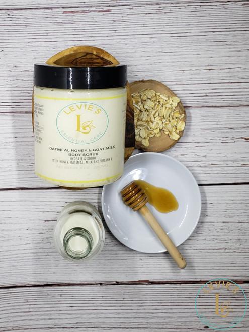 Oatmeal Honey and Goat Milk Body Scrub